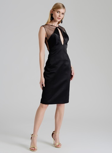 Özlem Erkan Elbise Siyah